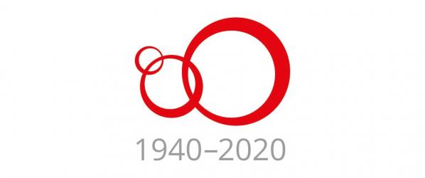 Karjalan Liiton 80-vuotisjuhlavuoden logo.