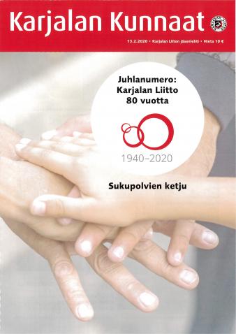 Karjalan Kunnaat -juhlalehti 2020