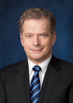 Karjalan Liiton 80-vuotisjuhlavuoden suojelija on tasavallan presidentti Sauli Niinistö. Kuva Tasavallan presidentin kanslia.