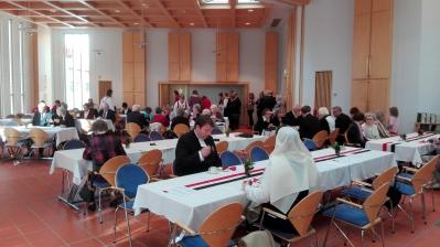 70-vuotisjuhla seurakuntasali
