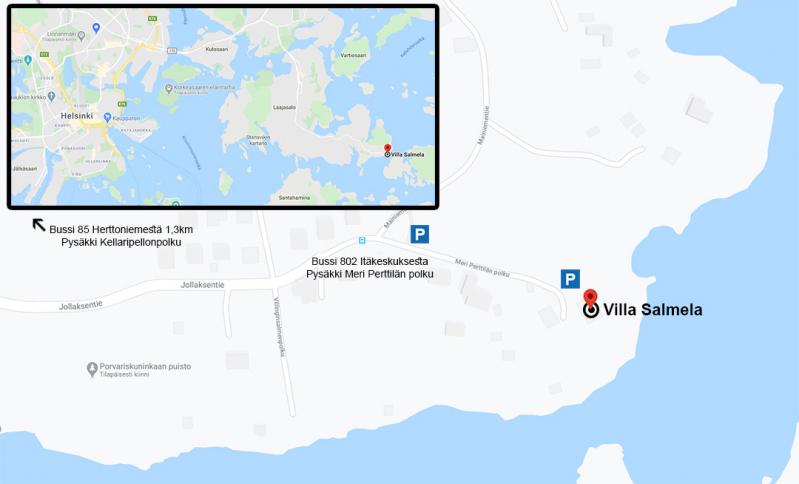 Villa Salmela kartalla