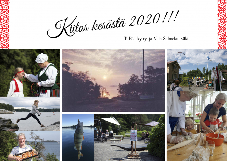 Villa Salmela on sulkeutunut 30.8.2020