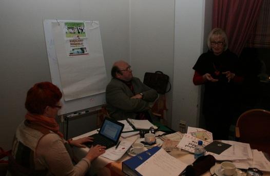 Kuva 4: Arja Kulmala toi avoimesti esille paljon käytännössä koettua tietoa Karjalaisten kesäjuhlien järjestämisestä.
